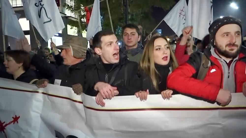 Акция потеста оппозиции в Грузии