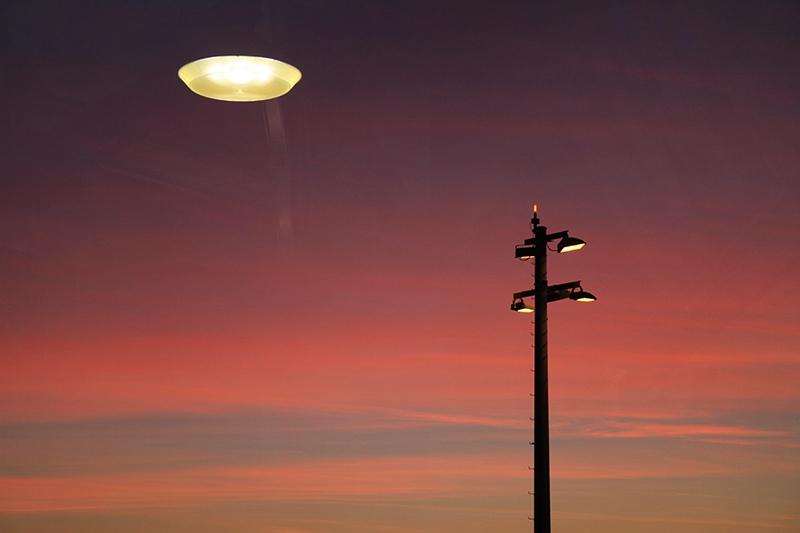 НЛО в небе