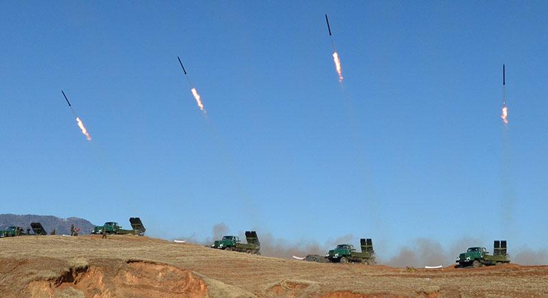 Пуск ракет в КНДР