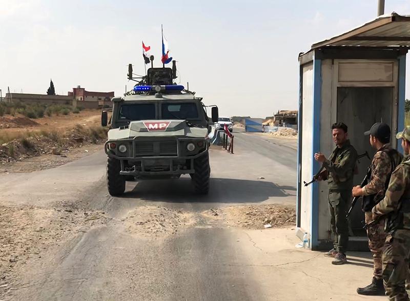 Бронеавтомобиль патрульной службы военной полиции России в Сирии