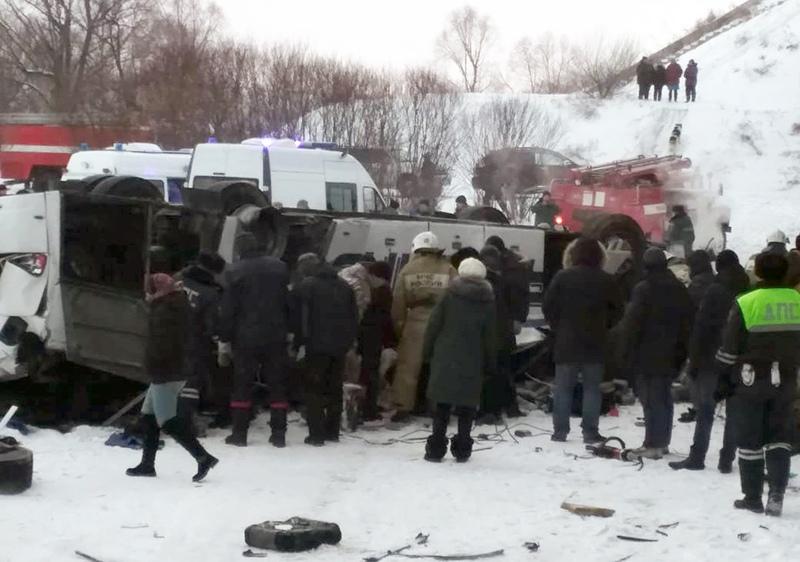 ДТП с участием автобуса в Забайкалье