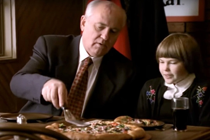 Кадр из рекламы пиццы