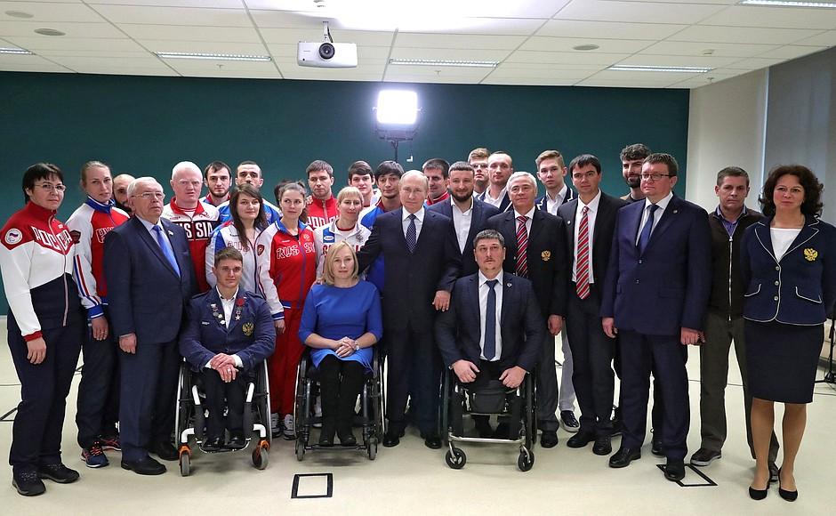 Владимир Путин на встрече с российскими спортсменами-паралимпийцами