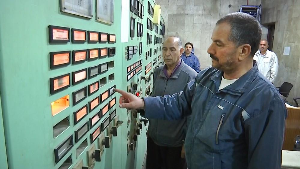 Работа ГЭС в Сирии