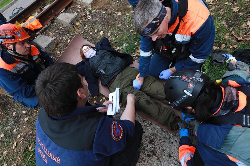 Добровольцы поисково-спасательного отряда