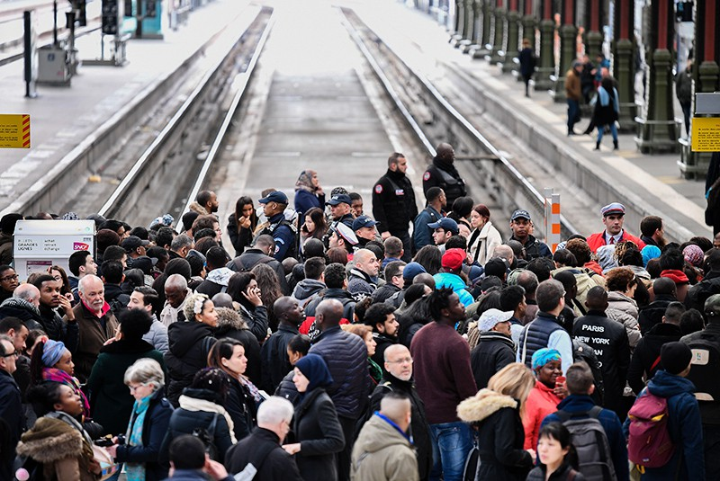 Транспортная забастовка во Франции