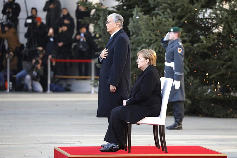 Ангела Меркель и Касым-Жомарт Токаев