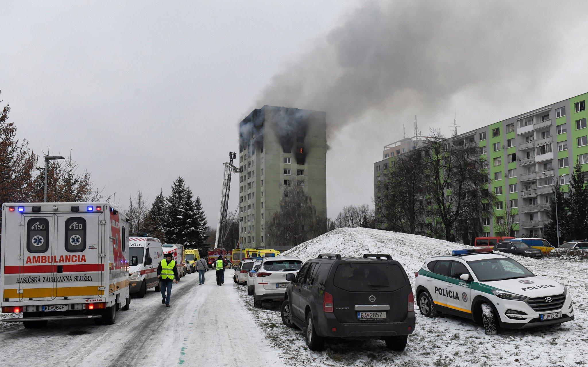 Взрыв газа в жилом доме в Словакии