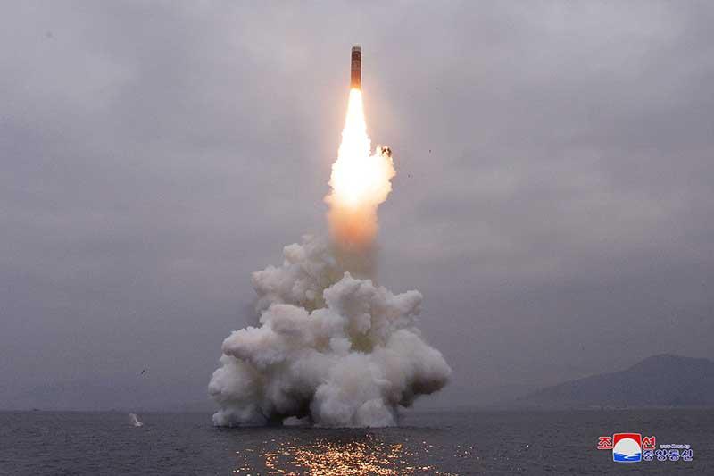 Испытание ракеты в КНДР