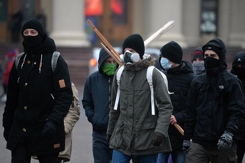 Участники несанкционированной акции в Минске