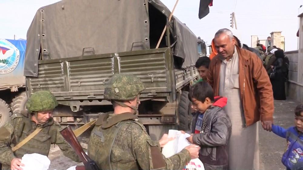 Гуманитарная акция в Ракке