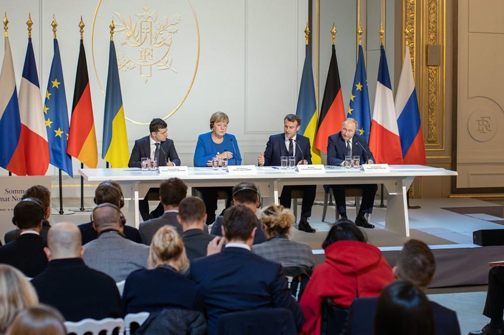 Пресс-конференция по итогам встречи Нормандской четверки