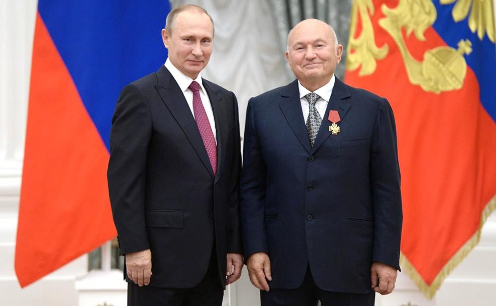 Владимир Путин и Юрий Лужков