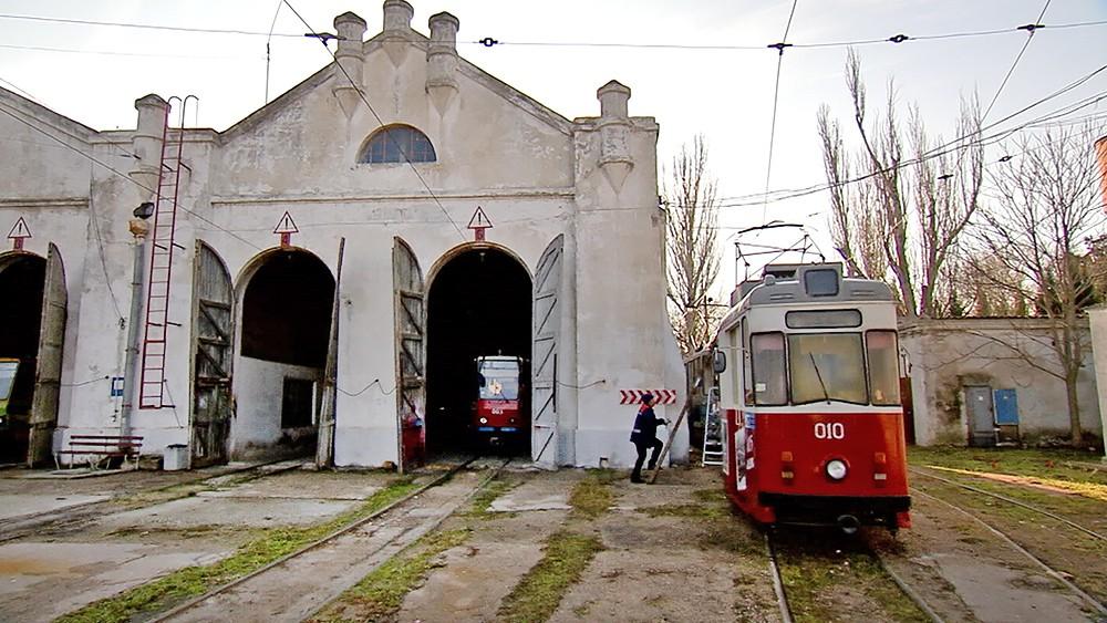 Трамвайный парк в Крыму