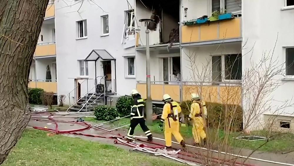 Последствия взрыва в Германии