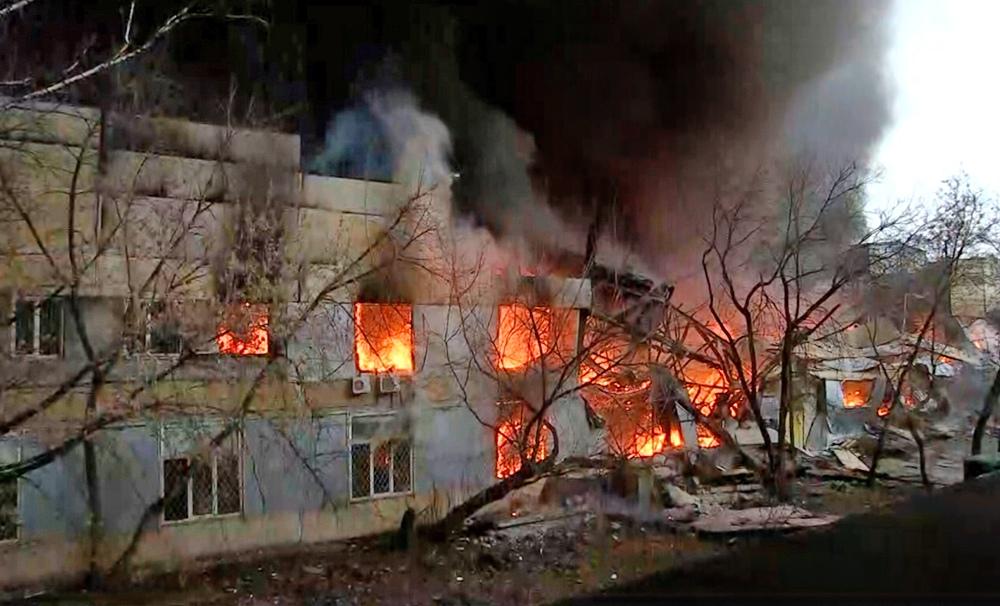 Пожар в промзоне