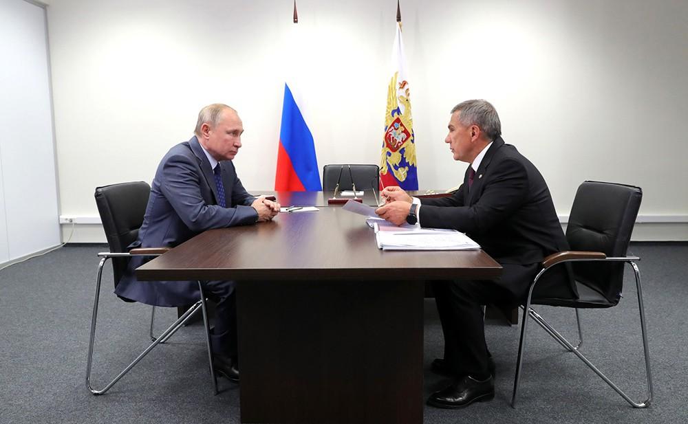 Владимир Путин и Рустам Минниханов