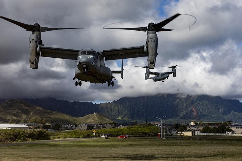 Вертолеты MV-22B ВВС США