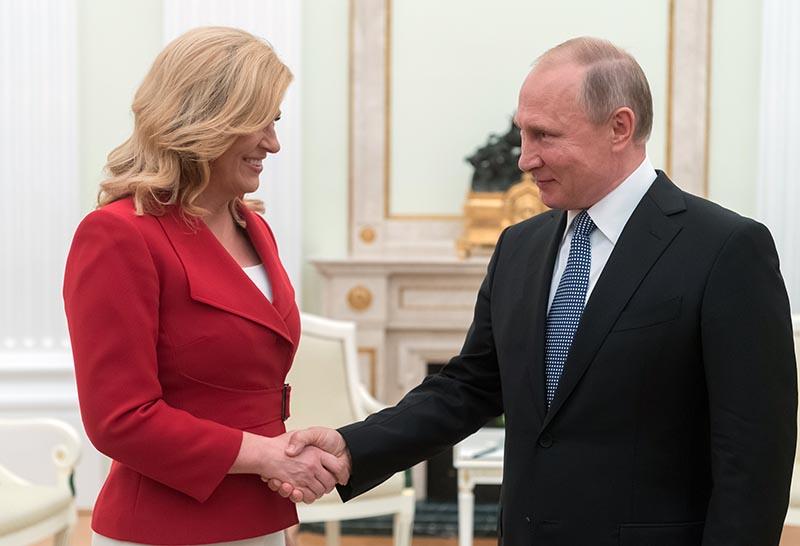 Владимир Путин и президент Хорватии Колинда Грабар-Китарович