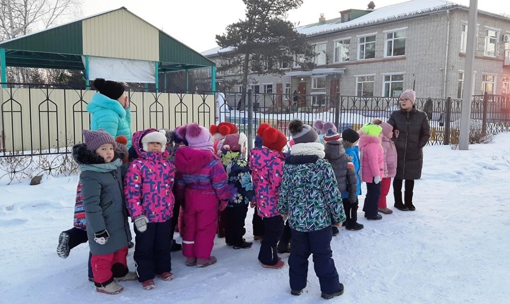 Эвакуация детей из детского сада