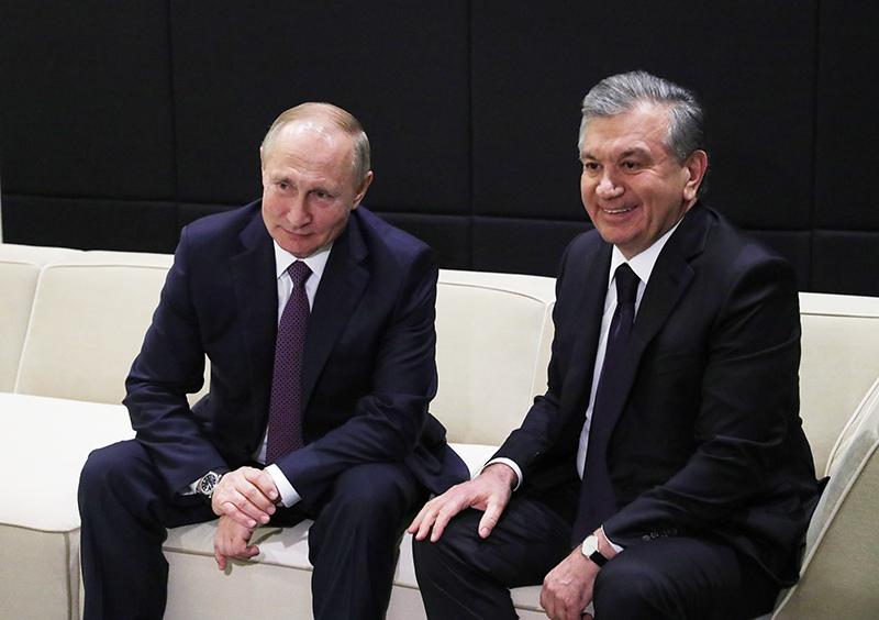 Владимир Путин и президент Узбекистана Шавкат Мирзиеев