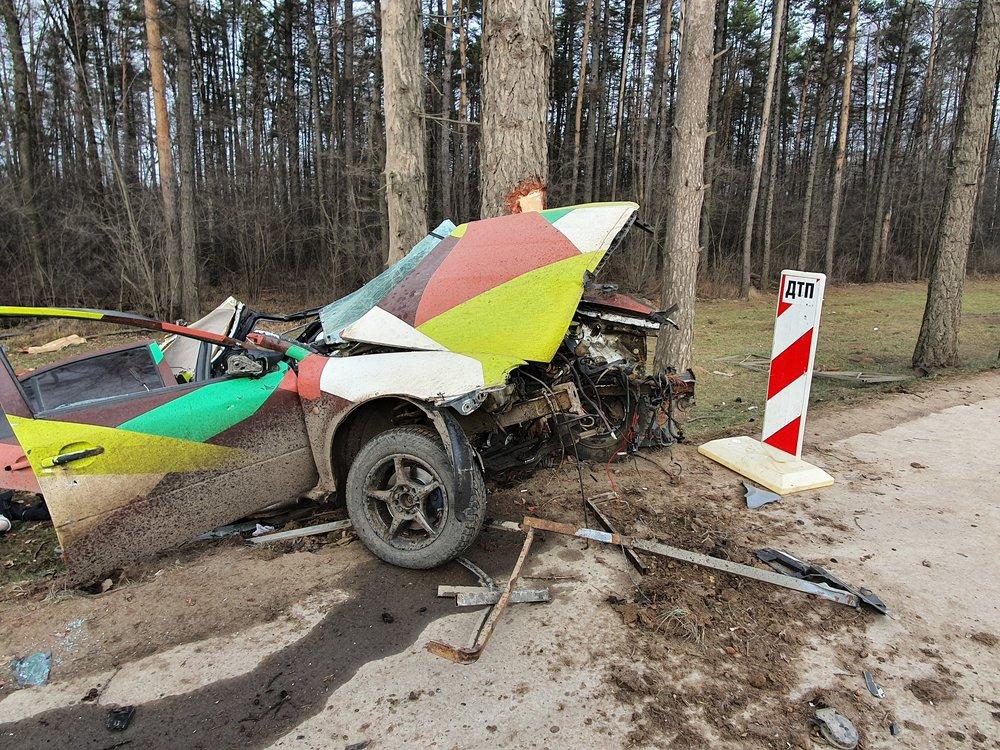 Последствия ДТП на 23 км Калужском шоссе в ТиНАО