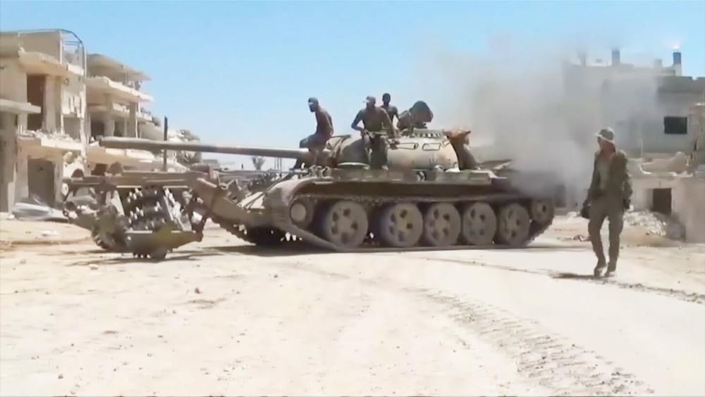 Обстрел в Сирии