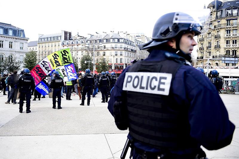 Полиция Франции на акции протеста