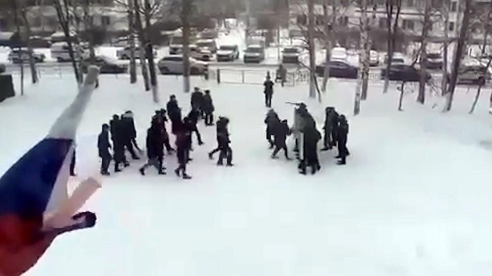 Учения полиции Татарстана со школьниками
