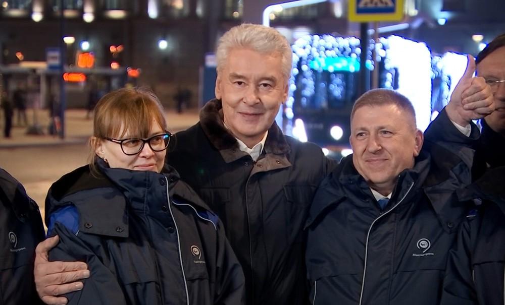 Сергей Собянин и работники общественного транспорта