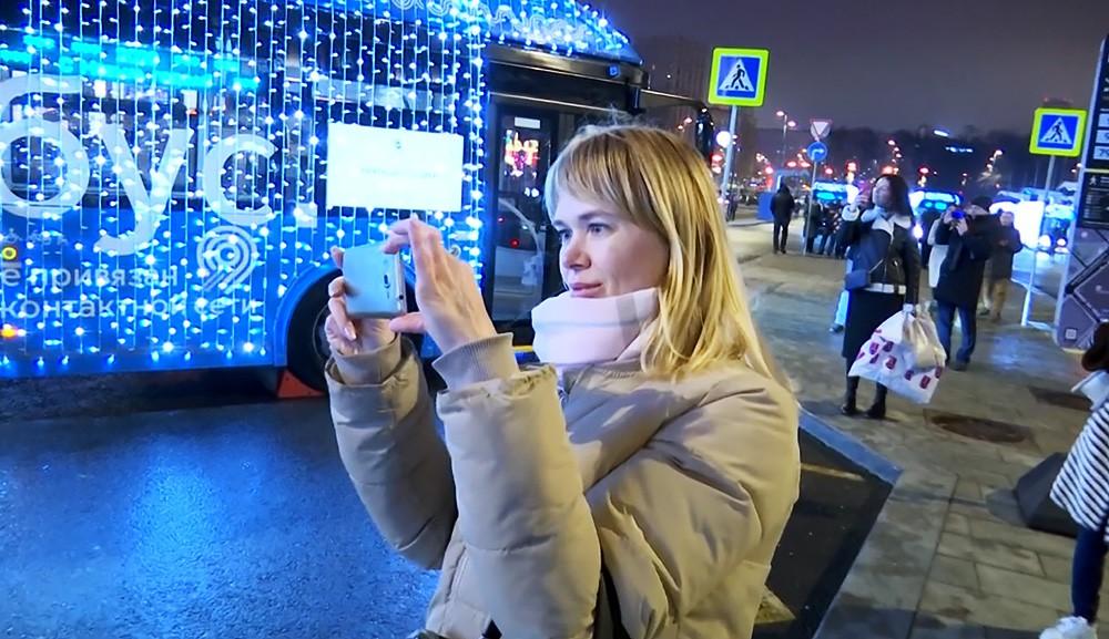 Новогодний транспорт в Москве