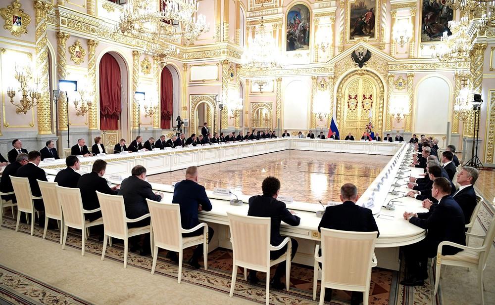 Заседание с представителями российских деловых кругов и объединений