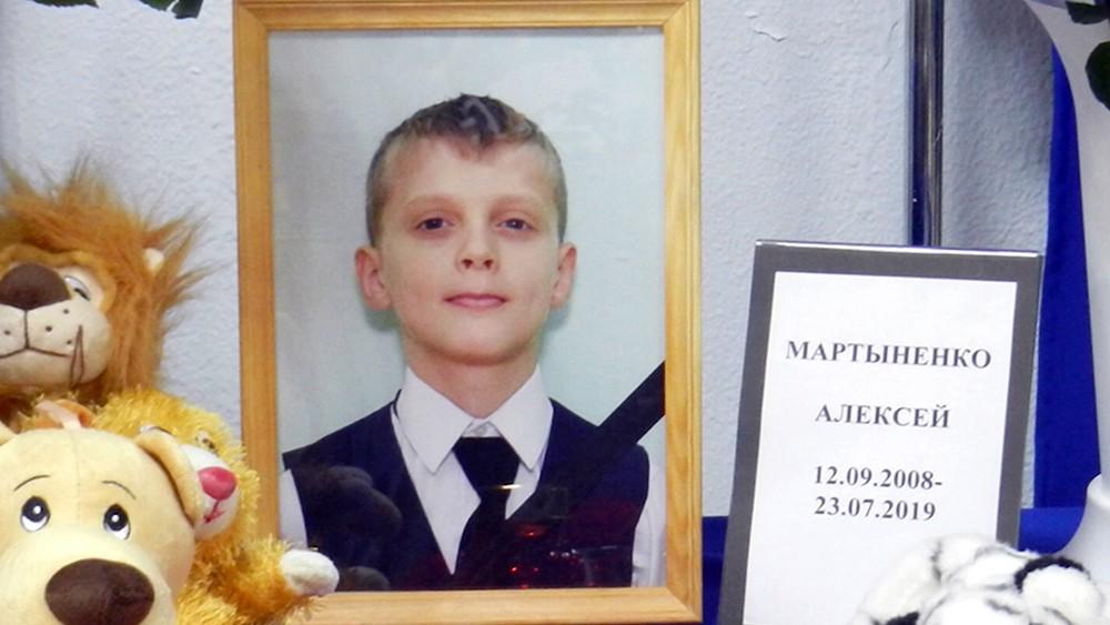 Алексей Мартыненко, помогавший сверстникам при пожара в палаточном городке