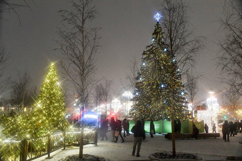 """Новогоднее украшение парка """"Зарядье"""""""