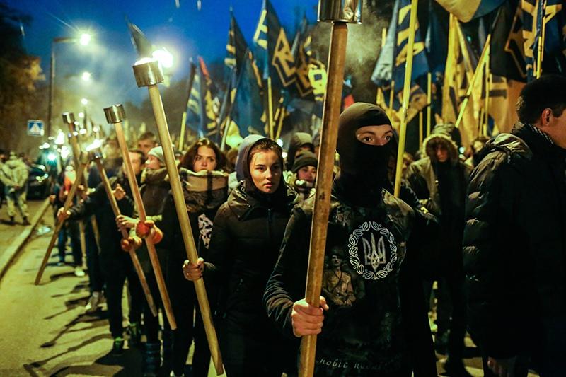 Шествие националистов в Киеве
