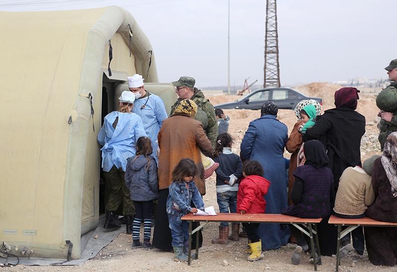 Оказание медицинской помощи жителям Сирии