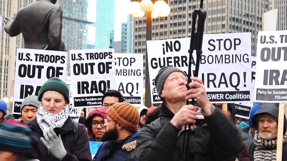 Митинг против войны в Ираке и Иране