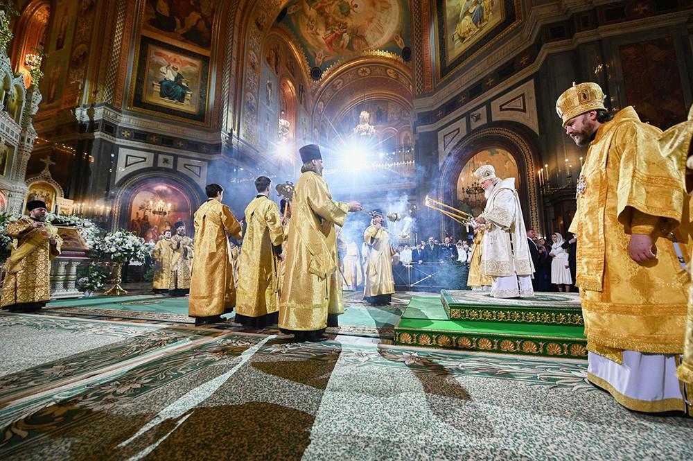 Патриарх Московский и всея Руси Кирилл в Храме Христа Спасителя
