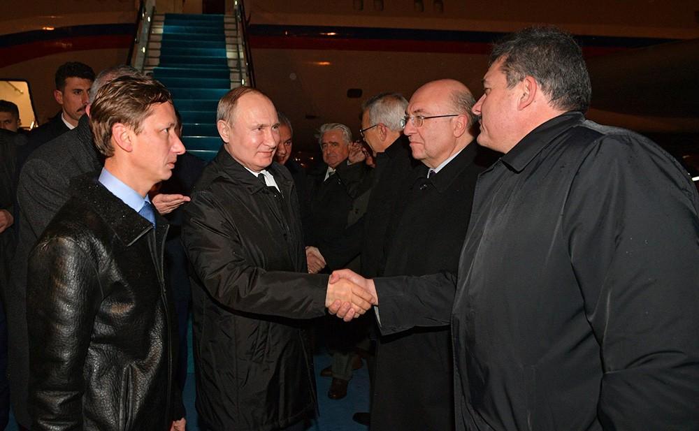 Владимир Путин прибыл в Турцию