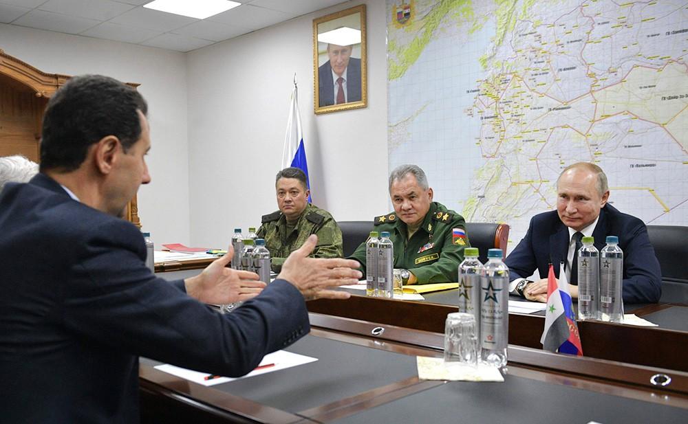Владимир Путин, Башар Асад и Сергей Шойгу