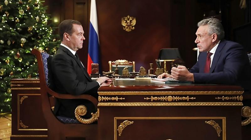 Дмитрий Медведев и Сергей Горьков