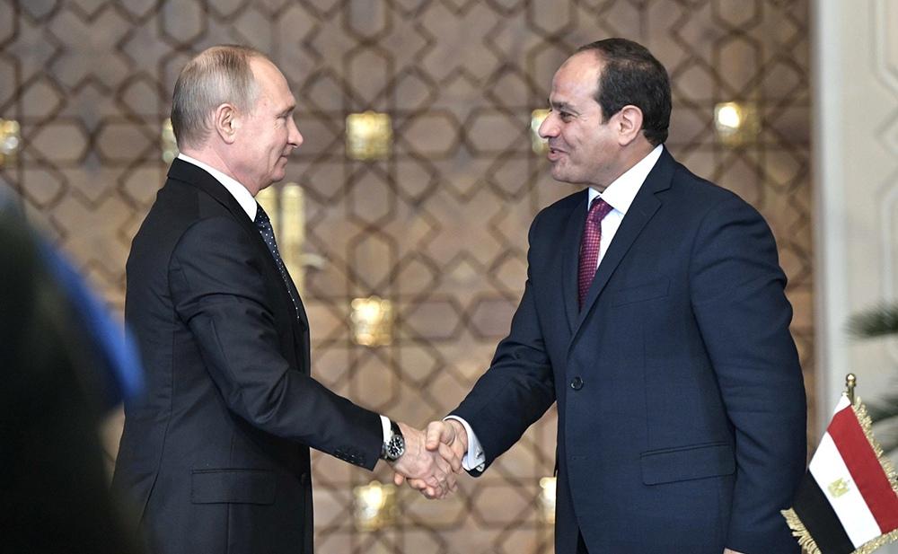 Владимир Путин и Абдельфаттах Сиси