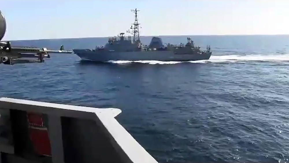 Сближение кораблей США и России