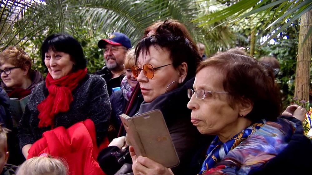 Посетители оранжереи