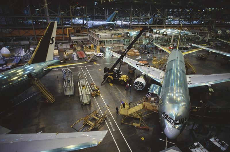 Производство самолетов Boeing