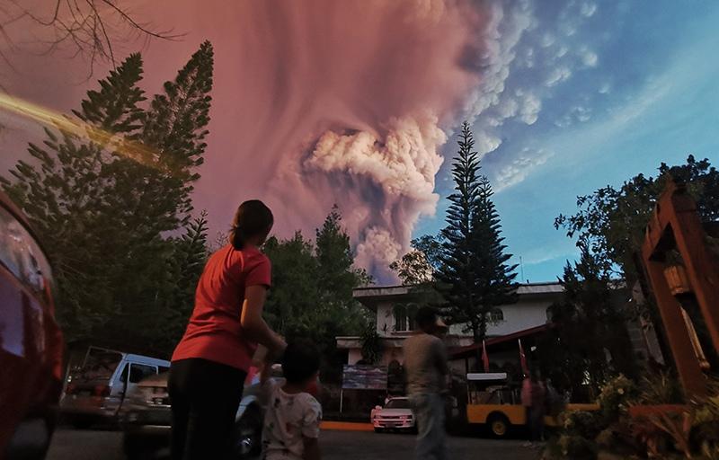 Извержение вулкана на Филиппинах