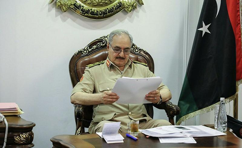 Глава Ливийской национальной армии (ЛНА) маршал Халифа Хафтар