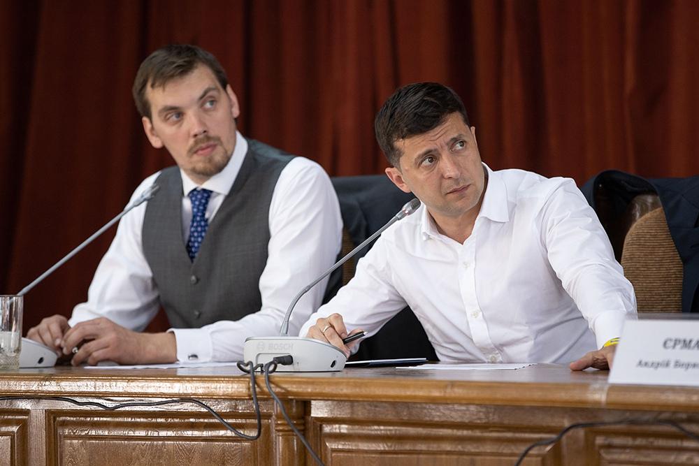 Алексей Гончарук и Владимир Зеленский