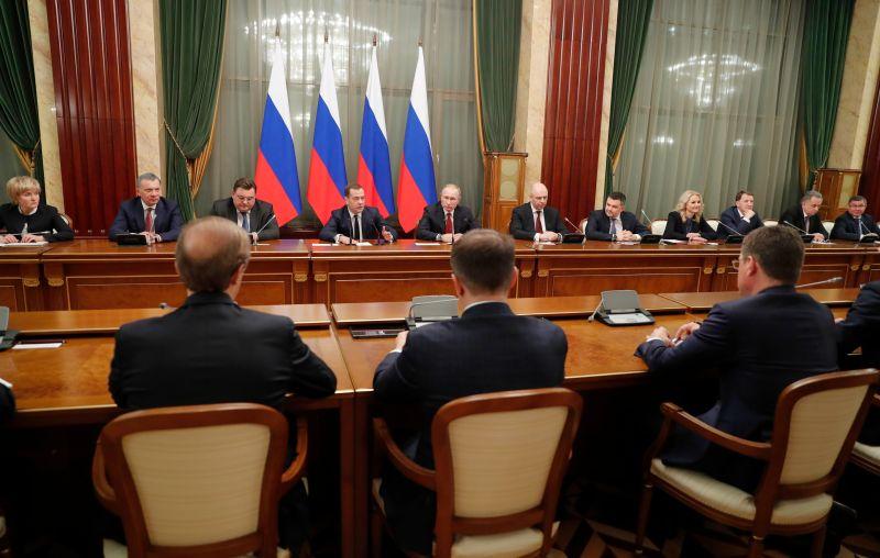Правительство России в день отставки