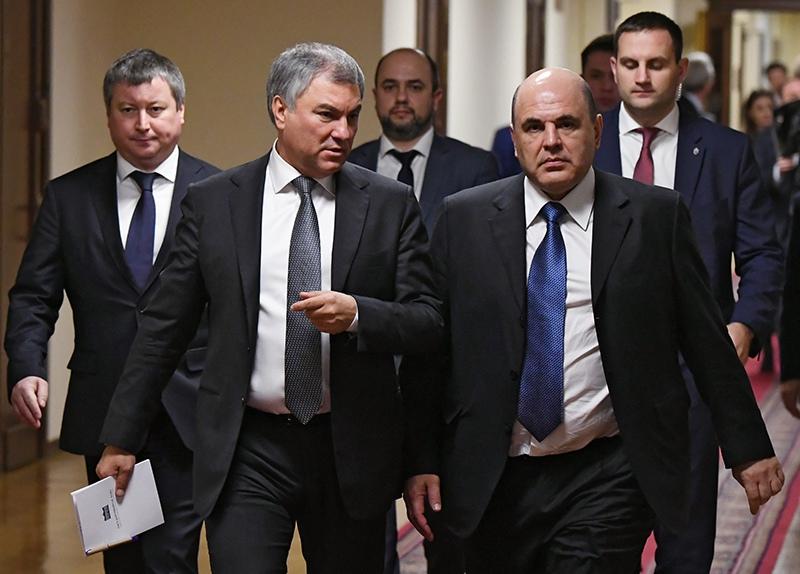 Михаил Мишустин после встреч с парламентскими фракциями
